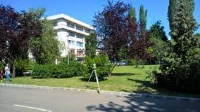 Teknik Leica, student, universitet, arbete, lopp, ny bilding, Royaltyfria Foton