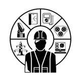 tekniker royaltyfri illustrationer