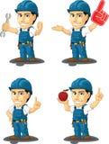 Tekniker eller Repairman Customizable Mascot 10 Arkivbild