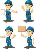 Tekniker eller Repairman Customizable Mascot 12 Arkivfoton