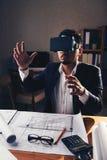 Tekniker i VR-exponeringsglas Royaltyfria Bilder