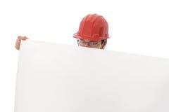 teknikerpapper som visar white Arkivbilder