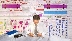 teknikerplanner Arkivbilder