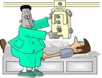 teknikerröntgenstråle royaltyfri illustrationer