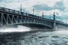 Teknikers bro i St Petersburg Arkivfoto