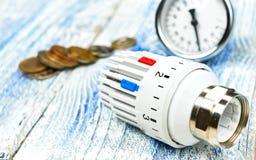 Teknikuppvärmning Begreppsuppvärmning Projekt av uppvärmning för hus Royaltyfri Bild