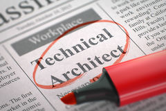 Teknisk arkitekt Join Our Team 3d Royaltyfri Fotografi