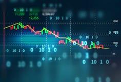 Teknisk finansiell graf på teknologiabstrakt begreppbakgrund stock illustrationer