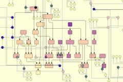teknisk illustration Arkivfoto