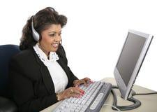 teknisk kvinna för indisk service Arkivbild