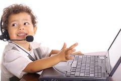 teknisk litet barn för problem Royaltyfria Bilder