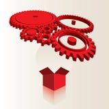 Teknisk räkning för kugghjul Arkivbild