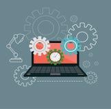 Teknisk service, datorreparationsservice Royaltyfri Illustrationer