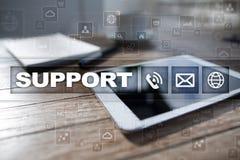 teknisk service Kundhjälp Affärs- och teknologibegrepp arkivfoto