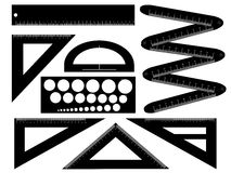 Teknisk teckningsutrustning Royaltyfri Illustrationer