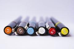 Tekniska pennor Fotografering för Bildbyråer