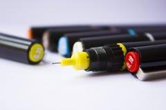 Tekniska pennor Royaltyfria Bilder