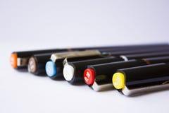 Tekniska pennor Arkivfoto