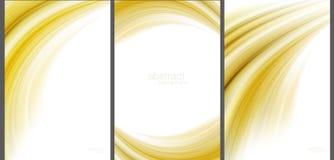 Tekniskt avancerad samling för brun abstrakt bakgrund Royaltyfri Bild