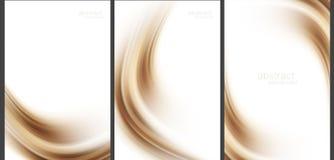 Tekniskt avancerad samling för brun abstrakt bakgrund Royaltyfri Foto