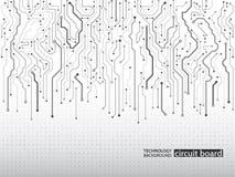 Tekniskt avancerad teknologibakgrundstextur vektor illustrationer