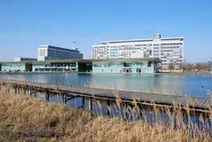 Tekniskt avancerad universitetsområde Eindhoven - remsan Arkivbild