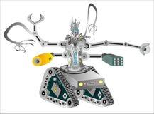 Tekniskt avancerade militära robotar stock illustrationer