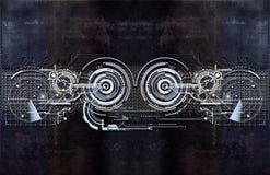 Tekniskt elektronisk bakgrund Royaltyfria Foton