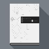 Tekniskt felbokomslag-/affischmall med enkla beståndsdelar för geometrisk design Arkivbilder