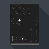 Tekniskt felbokomslag-/affischmall med enkla beståndsdelar för geometrisk design Fotografering för Bildbyråer