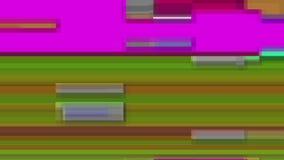 Tekniskt felTVskärm Färgglade band på en purpurfärgad bakgrund Royaltyfria Foton