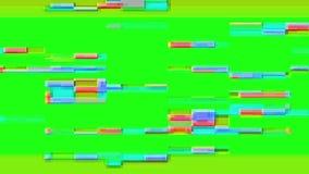 Tekniskt felTVskärm Grön bakgrund Royaltyfria Bilder
