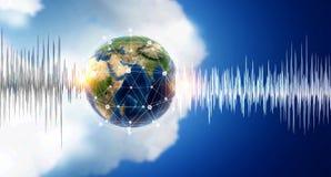 Teknologi av ljudet royaltyfri bild