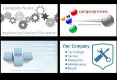 teknologi för 4 affärskortdesigner upp stock illustrationer