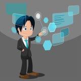 Teknologi för affär för manutvecklingsprogramvara Arkivfoton
