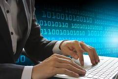 Teknologi för affär för skydd för Cybersäkerhetsdata Royaltyfri Fotografi