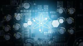 Teknologi för bakgrund för bräde för elektrisk strömkrets royaltyfria foton