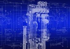 Teknologi för industriell teknik Royaltyfri Bild