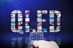 Teknologi för innovation för skärm för tv för QLED-kvantprick Royaltyfria Bilder