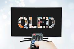 Teknologi för innovation för skärm för tv för QLED-kvantprick Royaltyfri Bild