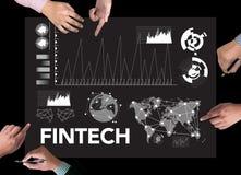 Teknologi för internet för FINTECH-investering finansiell royaltyfria foton