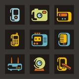 teknologi för kommunikationssymbolsserie vektor illustrationer