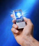 teknologi för kontaktgudreligion Royaltyfri Fotografi