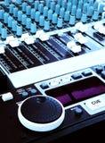 teknologi för ljud för musik för konsoldj-blandare Royaltyfri Bild
