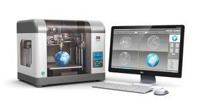 teknologi för printing 3d vektor illustrationer