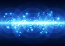 Teknologi för solid våg för vektor digital, abstrakt bakgrund Royaltyfri Fotografi