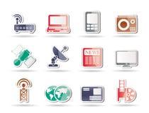 teknologi för symboler för affärskommunikationer royaltyfri illustrationer
