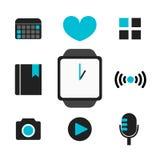 Teknologi för vektorSmart-klocka smart telefon Arkivfoton