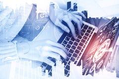 Teknologi-, finans- och innovationbegrepp royaltyfri foto