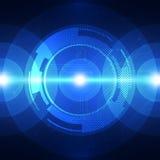 Teknologi för solid våg för vektor digital, abstrakt bakgrund Fotografering för Bildbyråer